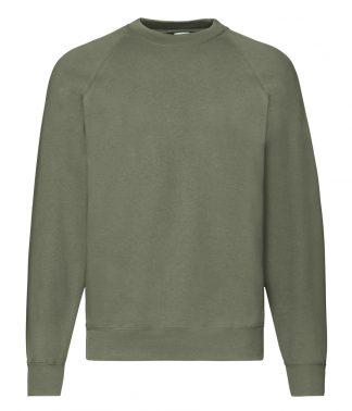 Fruit Loom Raglan Sweatshirt Classic Olive XXL (SS8 COL XXL)