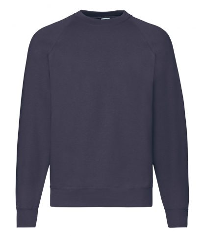 Fruit Loom Raglan Sweatshirt Deep Navy 4XL (SS8 DNA 4XL)