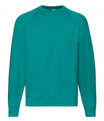 Fruit Loom Raglan Sweatshirt Emerald XXL (SS8 EME XXL)