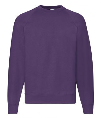 Fruit Loom Raglan Sweatshirt Purple XXL (SS8 PUR XXL)
