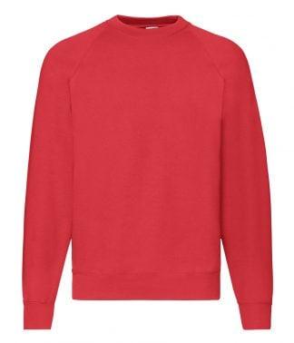Fruit Loom Raglan Sweatshirt Red XXL (SS8 RED XXL)