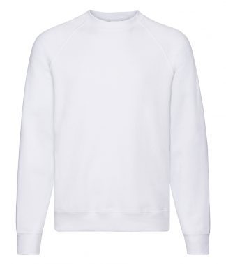 Fruit Loom Raglan Sweatshirt White 3XL (SS8 WHI 3XL)