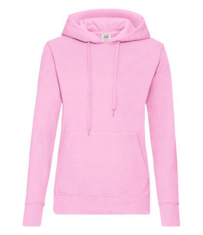 Fruit Loom Ladies Hooded Sweat Light Pink XXL (SS801 LPI XXL)