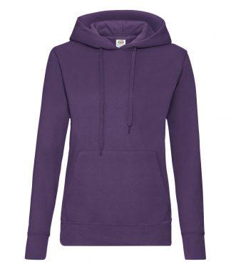Fruit Loom Ladies Hooded Sweat Purple XXL (SS801 PUR XXL)