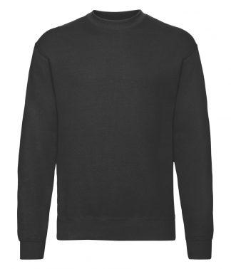 Fruit Loom Set-In Sweatshirt Black 5XL (SS9 BLK 5XL)