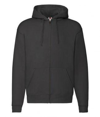 Fruit Loom Premium Zip Hooded Swt Black XXL (SSE16 BLK XXL)