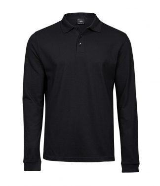 Tee Jays Luxury Stretch L/S Polo Black 3XL (T1406 BLK 3XL)