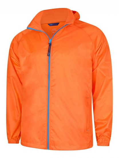 Uneek Active Jacket - Fiery Orange/Surf Blue