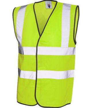 Uneek Sleeveless Safety Waist Coat - Yellow
