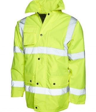 Uneek Road Safety Jacket - Yellow