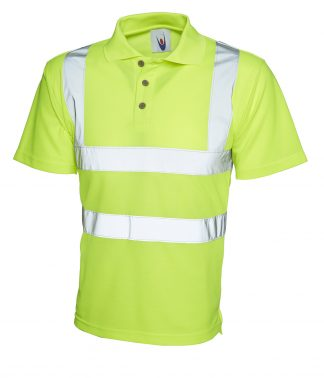 Uneek Hi-Viz Polo Shirt - Yellow