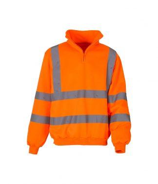 Yoko 1/4 Zip Sweatshirt Orange 3XL (YK033 ORA 3XL)