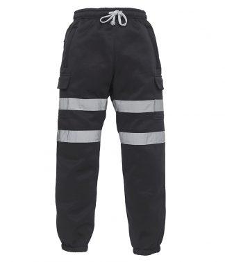 Yoko Hi-Vis Jogging Pants Black 3XL (YK034 BLK 3XL)