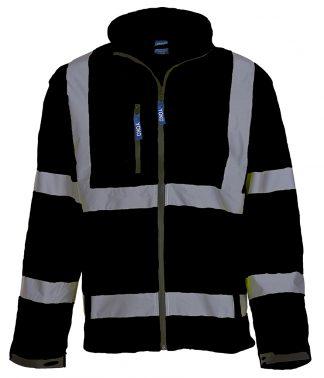 YK206 - Yoko Hi-Vis Soft Shell Jacket - Black