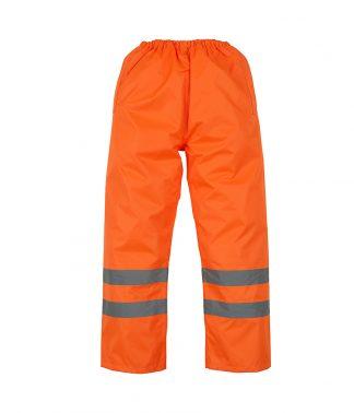 YK211 - Yoko Hi-Vis Waterproof GO/RT Overtrousers - Orange