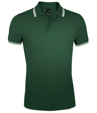 SOLS Pasadena Polo Shirt Forest/white 3XL (10577 FO/WH 3XL)