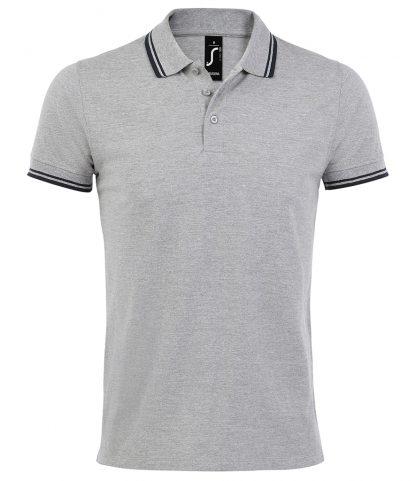 SOLS Pasadena Polo Shirt Heather/navy 3XL (10577 HE/NV 3XL)