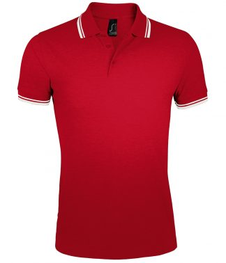 SOLS Pasadena Polo Shirt Red/white 3XL (10577 RD/WH 3XL)