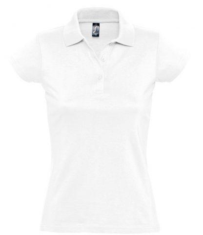 SOLS Lds Prescott Jersey Polo White XXL (11376 WHI XXL)