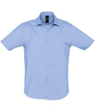 SOLS Broadway S/S Shirt Bright Sky 4XL (17030 BSK 4XL)
