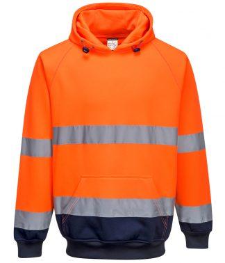 Portwest Hi-Vis 2-Tone Hooded Sweat Orange/navy 3XL (PW1250 OR/NV 3XL)