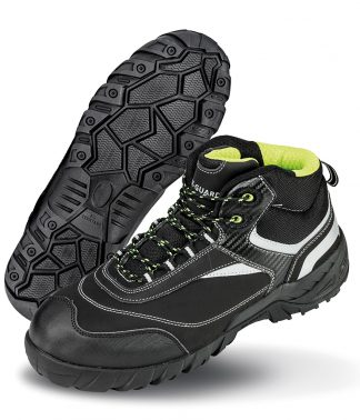Result W-G Blackwatch Safety Boots Black/silver 12 (RS339 BK/SI 12)
