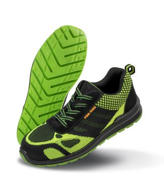 Result W-G Hicks Safety Trainers Neon gr./black 12 (RS458 NG/BK 12)